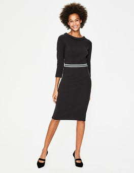 Black Daisy Ottoman Dress