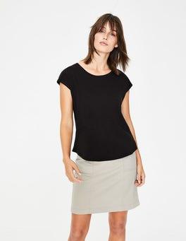 Noir T-shirt en coton
