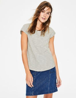 Ivory/Navy The Cotton Tee