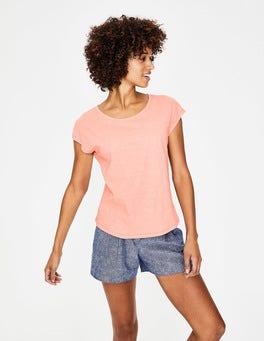 Kreiderosa Das Baumwoll-T-Shirt