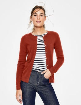 Conker Cashmere Crew Cardigan