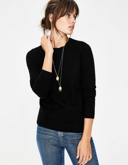 Black Cashmere Crew Neck Jumper