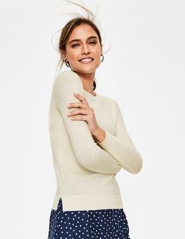 Ivory Cashmere Crew Neck Sweater