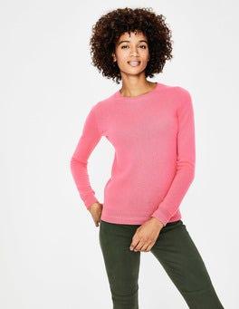 Garden Rose Cashmere Crew Neck Sweater
