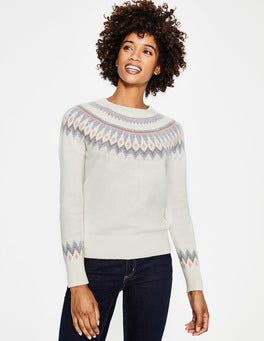 Ivory Agnes Fair Isle Sweater