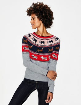 Dog Fair Isle Christmas Fair Isle Jumper