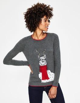 Scarf Llama Christmas Jumper