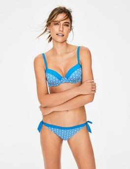 Blau, Stern Bikinihose mit Kontrastbändchen