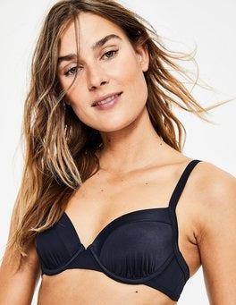 Navy Colourblock Milos Cup-size Bikini Top