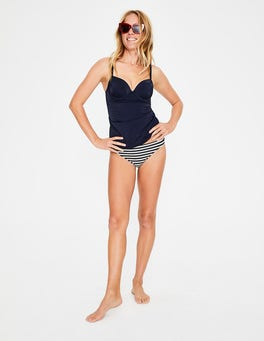 Navy Colourblock Milos Cup-size Tankini Top