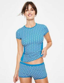 Blue Star Short Sleeve Rash Vest