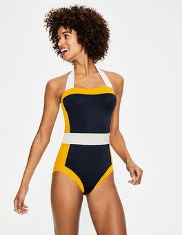 Yellow Colourblock Santorini Swimsuit