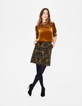 Navy and Trumpet, Woodland Mimi Velvet Skirt