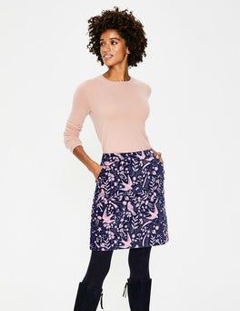 Navy Mystic Woodland Mimi Velvet Skirt