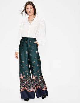 Chatsworth Green Wonderland Weybourne Wideleg Trousers