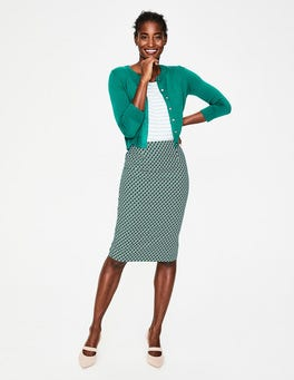 Heron Blue Geo Richmond Pencil Skirt