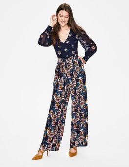 Navy Flourish Scatter Belgrave Jumpsuit