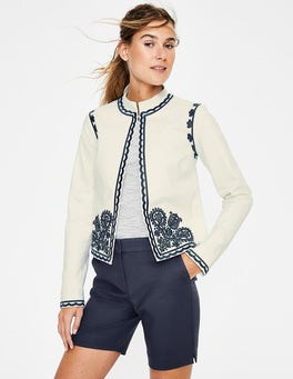 Ivory Lisbon Embroidered Jacket