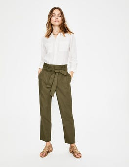 Classic Khaki St Ives Paperbag Trousers
