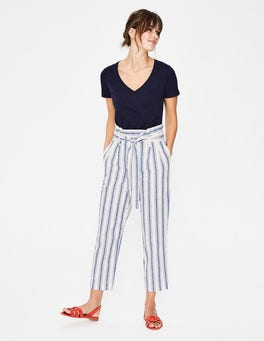 Cobalt Stripe St Ives Paperbag Trousers