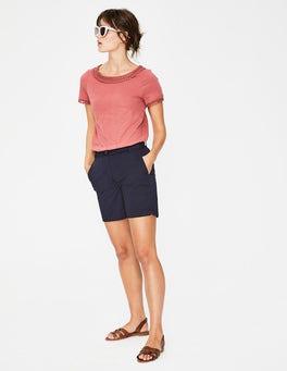 Navy Helena Chino Shorts