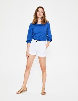 White Helena Chino Shorts