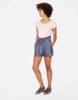 Light Chambray St Ives Paperbag Shorts
