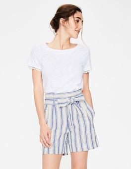 Cobalt Stripe St Ives Paperbag Shorts