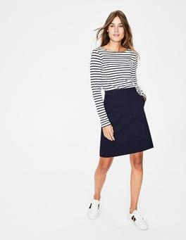 Navy Helena Chino Skirt