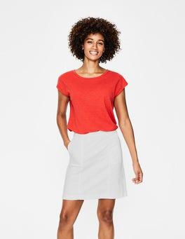 White Helena Chino Skirt