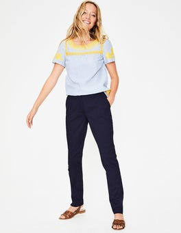 Navy Helena Chino Trousers