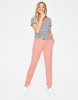 Chalky Pink Helena Chino Trousers