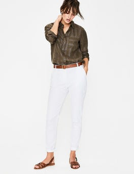 White Helena Chino Trousers