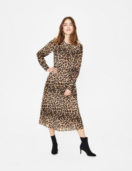Oatmeal, Wild Cat Alba Midi Dress