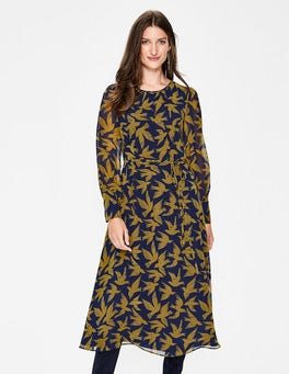 Trumpet, Swooping Birds Alba Midi Dress