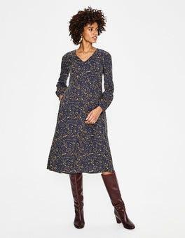 Navy, Mystic Woodland Easy Midi Dress