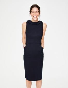 Navy Martha Kleid mit Ziernaht