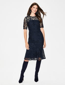 Navy Bryony Lace Dress