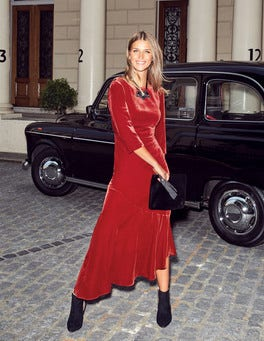 Rebecca Velvet Maxi Dress