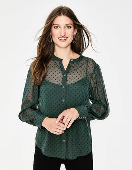 Chatsworth Green Lyra Blouson Sleeve Shirt