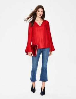 Poinsettia Lucie Top