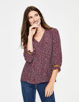 Dark Burgundy, Twinkle Vine Winnie Top