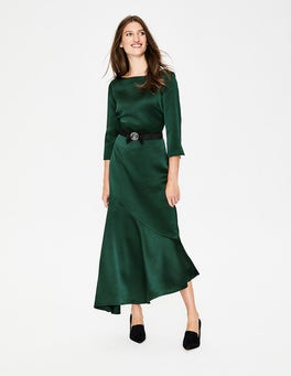 Chatsworth Green Rebecca Satin Maxi Dress