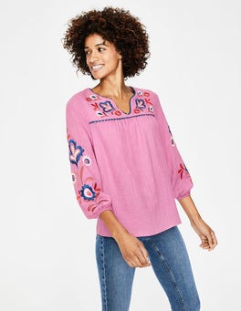 Candy Stick Embroidery Abigail Embroidered Top