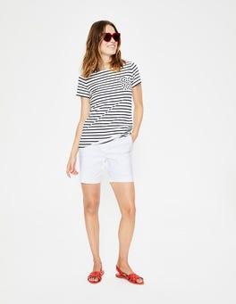 White Richmond Shorts