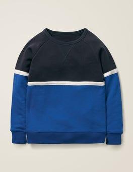 Dunkelblau/Königsblau Sportliches Sweatshirt