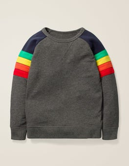 Grey Marl Rainbow Sporty Sweatshirt