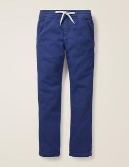 Segelblau Schmal geschnittene Jersey-Jeans