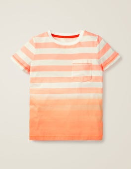 T-Shirt mit Dip-Dye-Farbverlauf