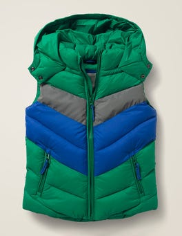 Hike Green/Reflective Shower Resistant Gilet